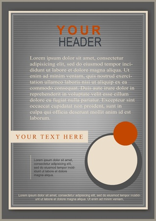 Classic flayer or cover template grey