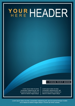 Abstract Bright Blue Flyer or Cover Design Vettoriali