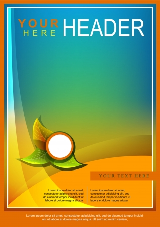 Abstract Bright Flyer or Cover Design