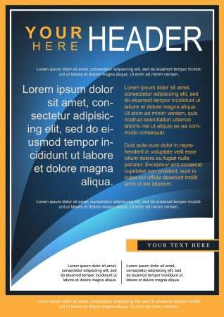Abstract Blue Flyer or Cover Design Illustration