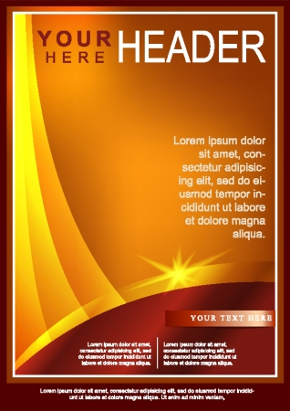 Abstract Gold Flyer or Cover Design Vector