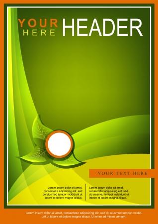 a4 borders: Estratto Flyer Verde o Cover Design Vettoriali