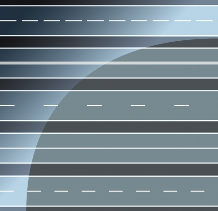 Roads horizontal seamless Vector