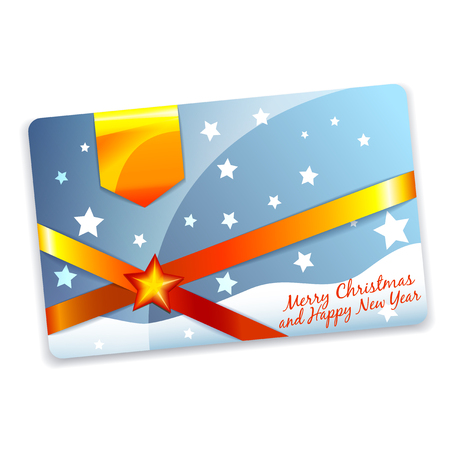 Christmas gift discount card or flyer template Vector