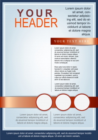 magazine template: Flyer or cover template blue and red