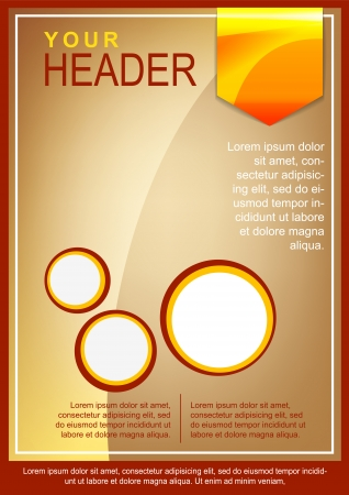 flayer: Flayer or cover template red and beige