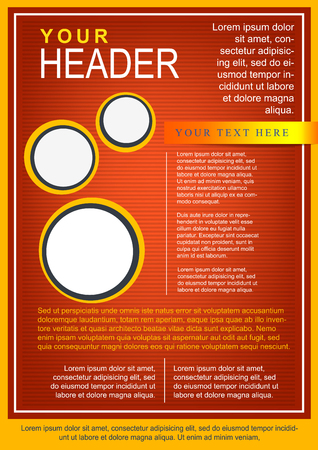 Flayer or cover template red with circles