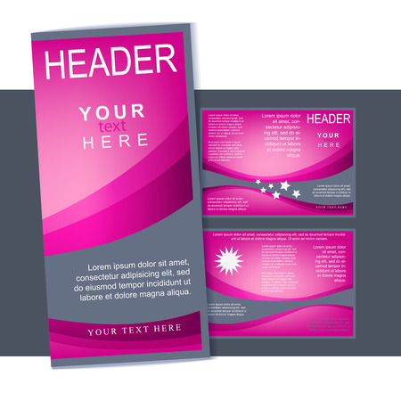 Three fold flyer or brochure template