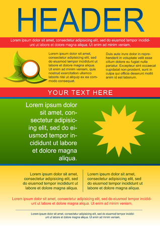 flayer: Yellow green flayer or cover template Illustration