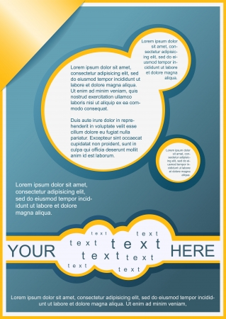 flayer: Flayer, brochure or cover template beige ang yellow Illustration
