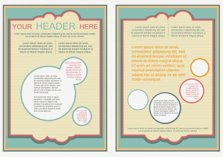 Flayer, brochure or cover template retro style flip