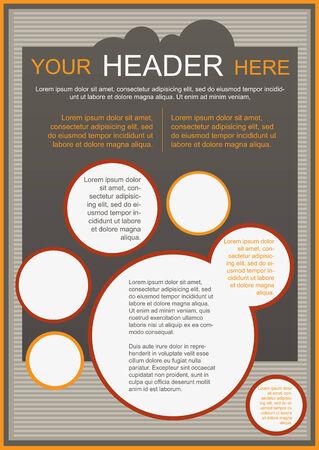 a4 borders: Flayer, brochure o copertura modello beige Vettoriali