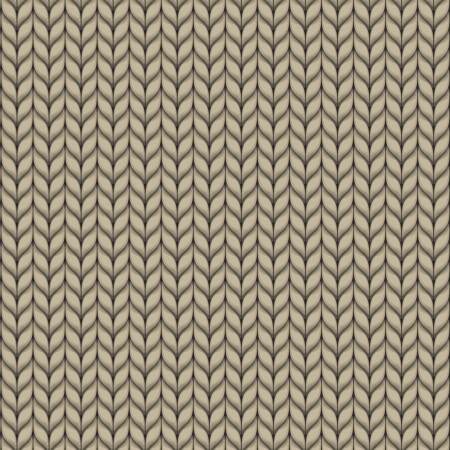 Seamless knitted beige pattern Vector