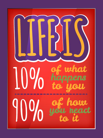 Qoute typographic decorative colorful poster
