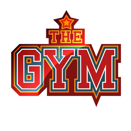 The Gym Sign Vector