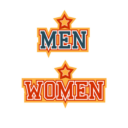 Men Women Signs Vector