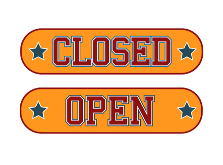 Open Closed Sign Vector