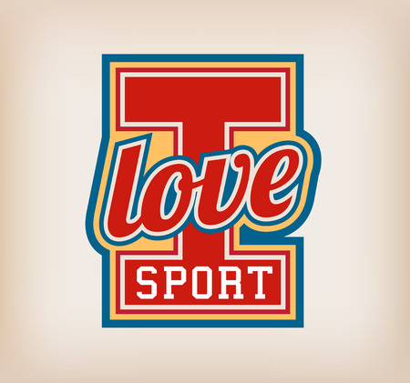 I love sport sign Vector