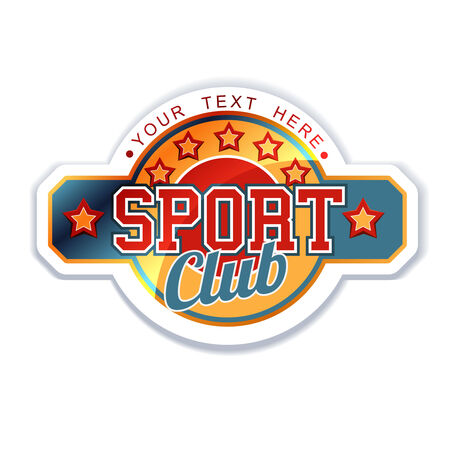 club flyer: Sport Club sign Illustration