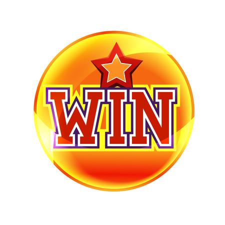 Win button Ilustracja