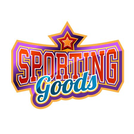 sporting goods: Sporting Goods Sign Illustration