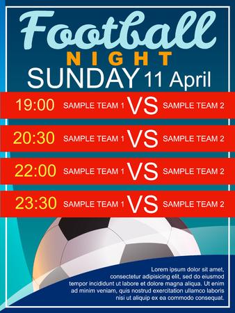 football party: Football Night Poster