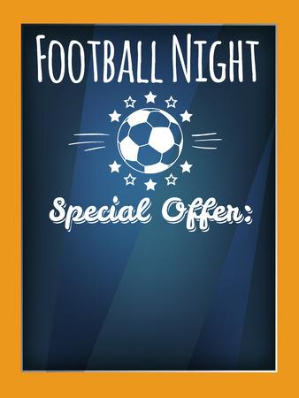 football party: Football. Special Offer flyer Illustration