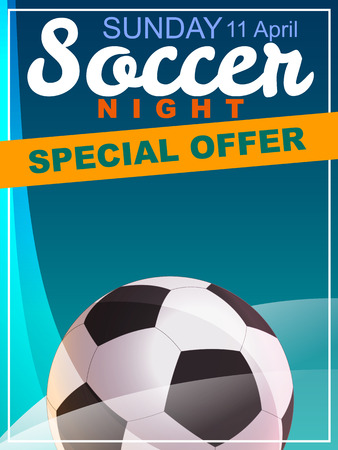 football party: Soccer. Special Offer flyer