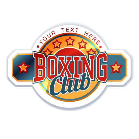 Boxing Club Sign Vector