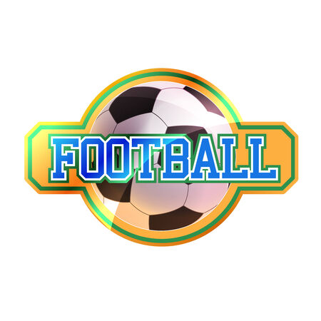 Football sign with ball Vector