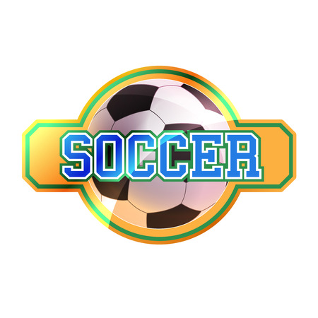 Soccer sign with ball Vector