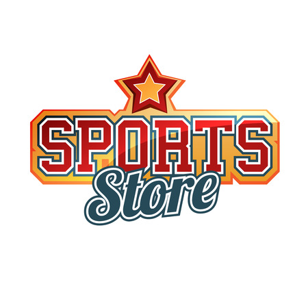 sport clothes: Sports Store Sign