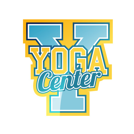 Yoga Center Sign Vector