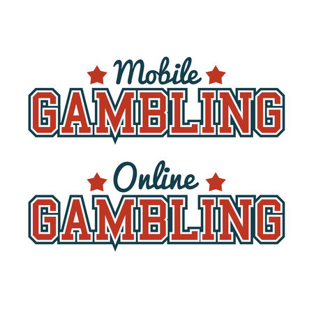 Gambling Mobile Online Sign Vector