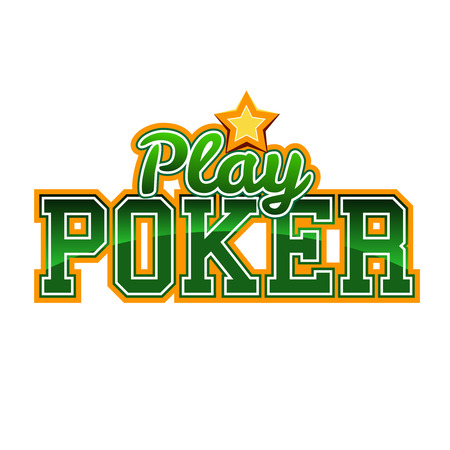 Play Poker Sign Vector