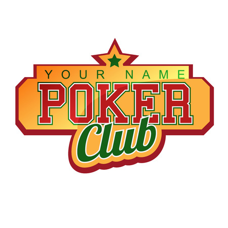 Poker Club Sign Vector
