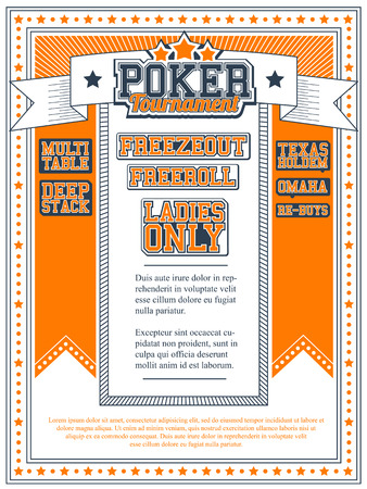 Poker Tournament Invitation Vector
