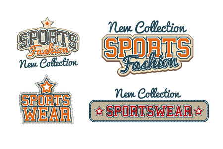 Sportswear Signs collection Vector