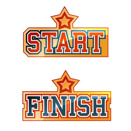 Start Finish Sign  イラスト・ベクター素材
