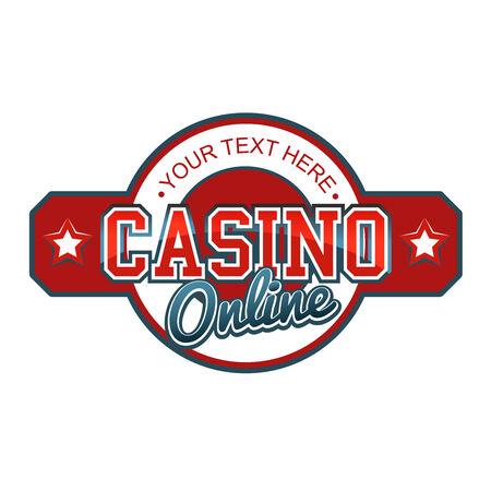 roulette online: Casino Online Sign Illustration