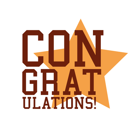 congratulations word: Congratulations Sign