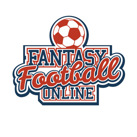 school sport: Fantasy Football Sign Illustration