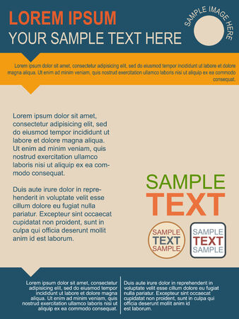 Flat Design Flyer Template Vector
