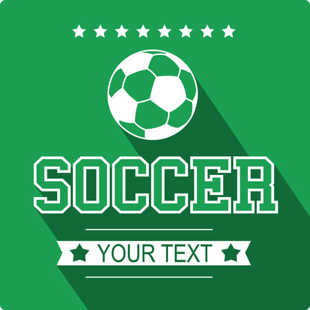 Soccer Sign Flat Design Vector