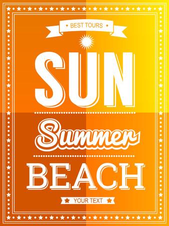 sun beach: Sun Summer Beach poster template