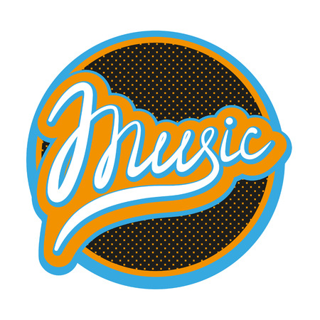 music banner: Music Lettering Calligraphic