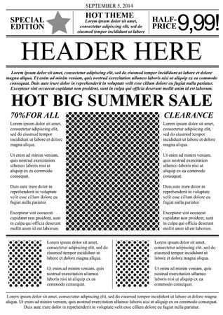 Flyer template newspaper style Vector