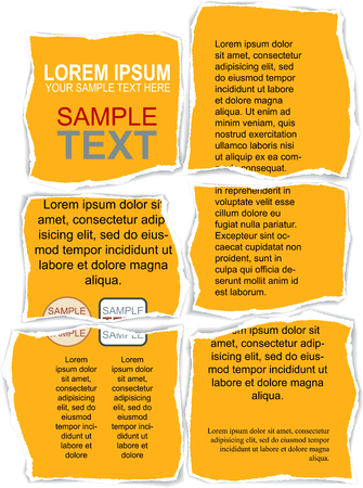 Torn Flyer Template with clipping mask Vector