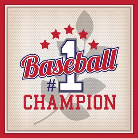 varsity: Retro Baseball Champion Number One Badge Varsity Style