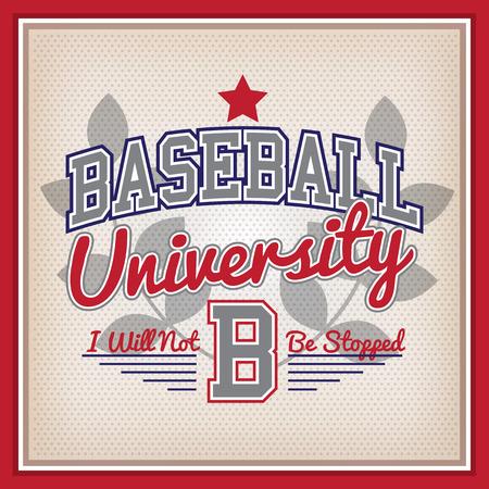 varsity: Retro Baseball University Badge Varsity Style